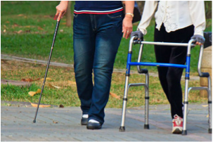 women-walking-with-mobility-aids